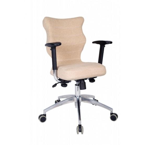 Krzesło obrotowe Deco Prestiż–roz. 6, stel. poler, brąz R1