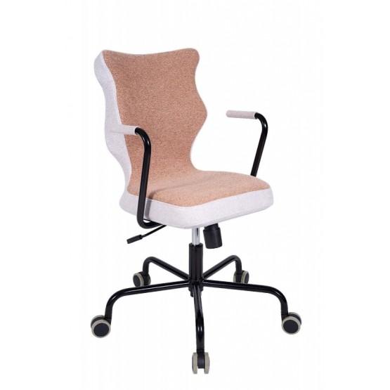 Krzesło obrotowe Lavre – rozmiar 6, stelaż czarny, brąz R1