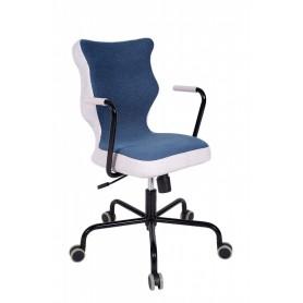 Krzesło obrotowe Lavre – roz 6, stelaż czarny, granat R1