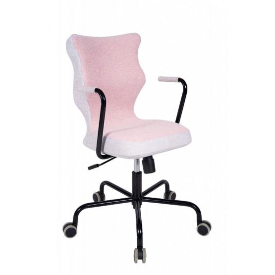Krzesło obrotowe Lavre – roz 6, stelaż czarny, różowy R1