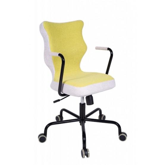 Krzesło obrotowe Lavre–rozmiar 6, stelaż czarny, zielony R1