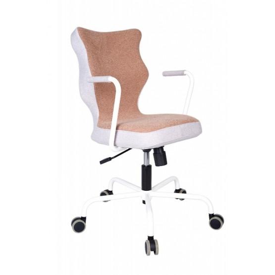 Krzesło obrotowe Lavre – rozmiar 6, stelaż biały, brąz R1