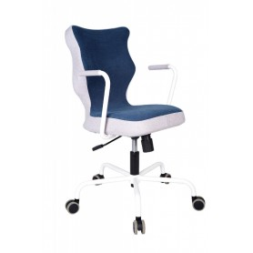 Krzesło obrotowe Lavre – rozmiar 6, stelaż biały, granat R1