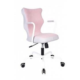 Krzesło obrotowe Lavre – rozmiar 6, stelaż biały, różowy R1