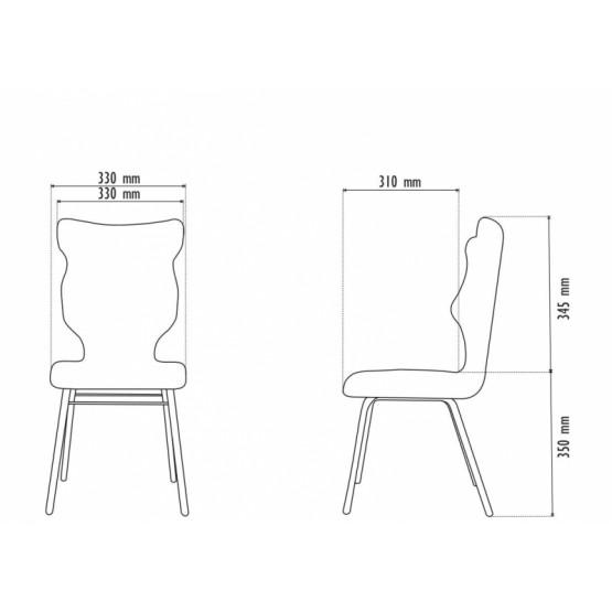 Krzesło Classic Visto - rozmiar 3 - kolor czerwony R1