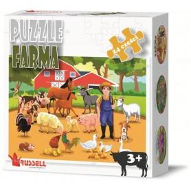 PUZZLE EDUKACYJNE 24 EL. FARMA
