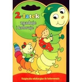 2-latek zgaduje i koloruje. Książeczka edukacyjna do kolorowania