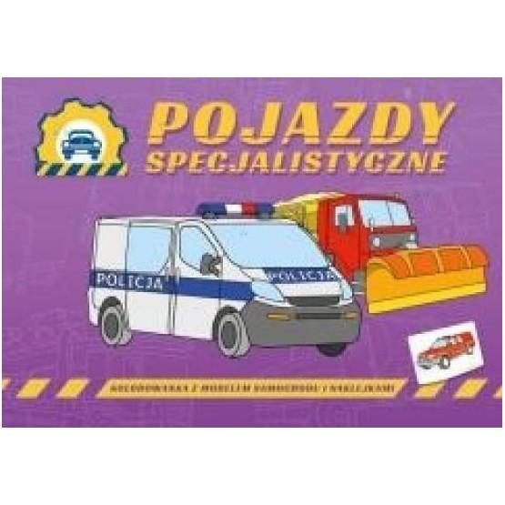 Pojazdy specjalistyczne - kolrowanka dla dzieci