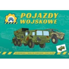 Pojazdy wojskowe - kolorowanka dla dzieci