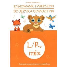 Rymowanki i wierszyki do języka gimnastyki L i R +naklejki