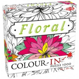 PUZZLE COLOUR IN FLORAL 1000 SZT DO POMALOWANIA TACTIC