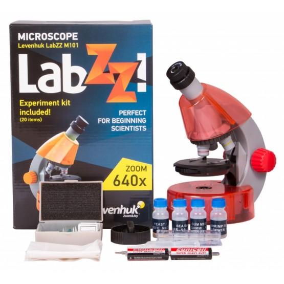 Mikroskop Levenhuk LabZZ M101 pomarańcza M1