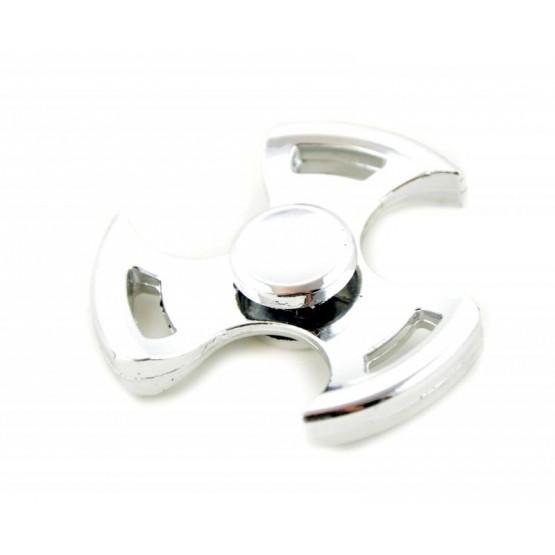 ORYGINALNY HAND SPINNER FIDGET SPINNER METALOWY SREBRNY