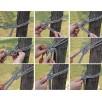 Hamak jednoosobowy kolorowy mocny 190x80 cm do 100kg E1