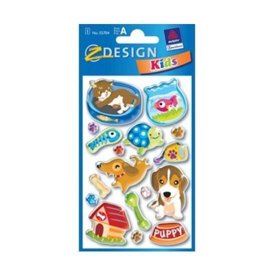 Plakietki samoprzylepne do ozdabiania i zabawy - Pies, kot
