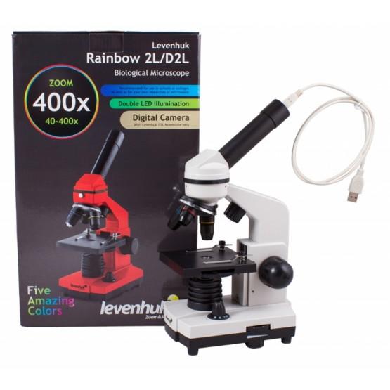 Mikroskop cyfrowy Levenhuk Rainbow D2L 0.3M, Moonstone M1