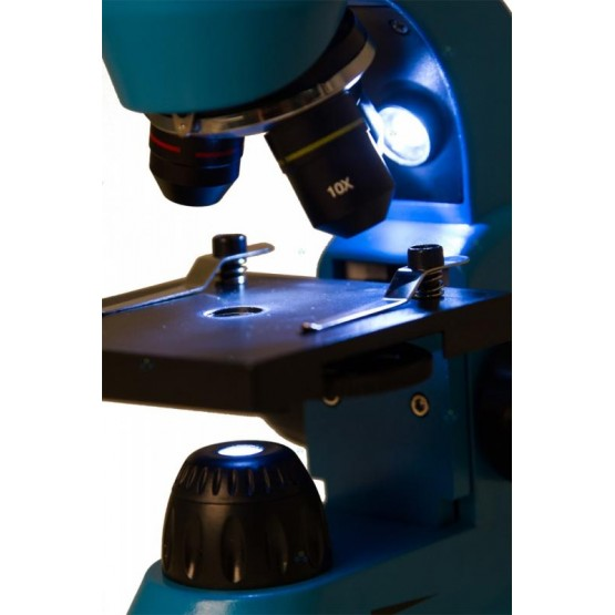 Mikroskop Levenhuk Rainbow 50L Azure Lazur M1