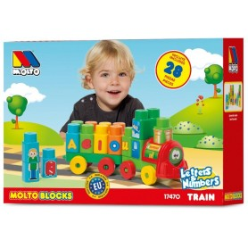 Pociąg z literkami i cyferkami Molto Blocks 28 el. S1