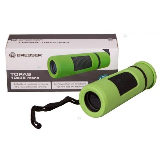 Monokular Bresser Topas 10x25, zielony M1