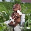 Przytulanka Ciasteczkowy Piesek z kością - 30cm T1