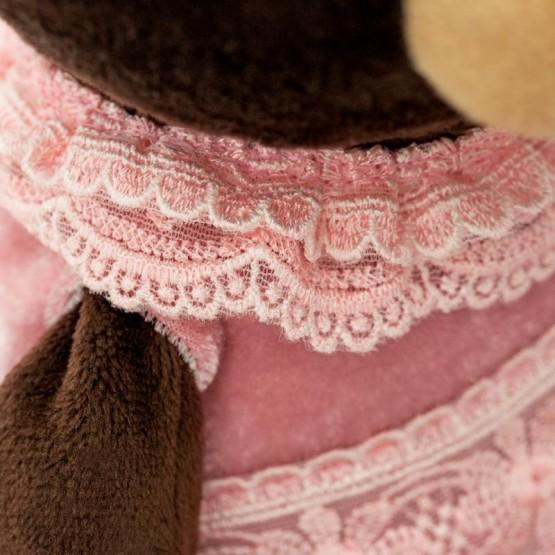 Siedząca Pani Milk w aksamitnej sukience 35cm T1