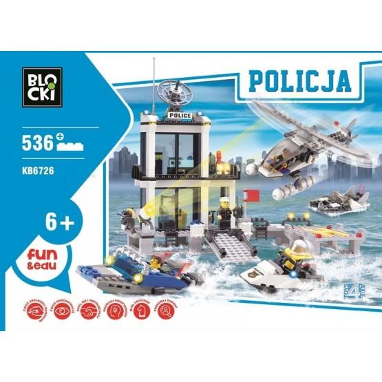 KLOCKI POSTERUNEK POLICJI PATROL MOTORÓWKA LUDZIKI 536EL
