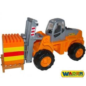 Wader QT Wózek Widłowy + Klocki 30 el. + paleta